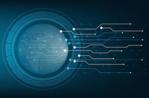 Circuito di sfondo hi tech fondo blu di tecnologia del fondo di concetto