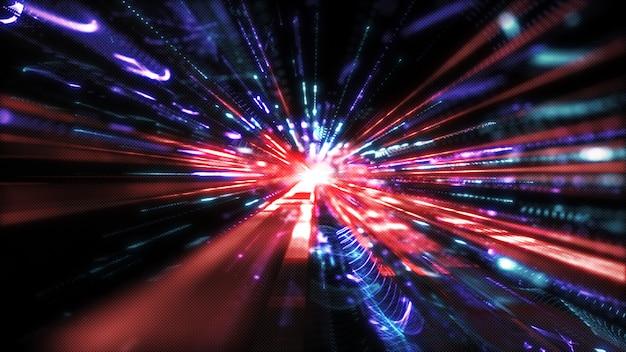 Movimento digitale avanzato del cyberspazio