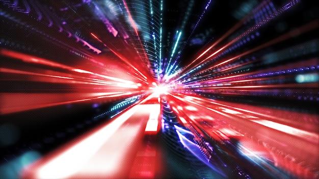 Movimento digitale avanzato del cyberspazio Foto Premium