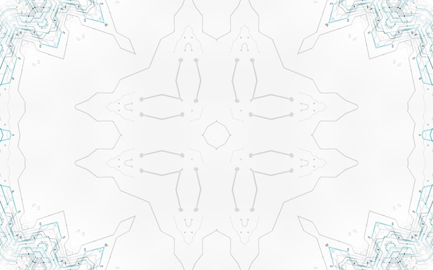 Fondo del circuito di stile di tecnologia hi-tech. schema digitale minimalista futuristico sfondo di ingegneria avanzata