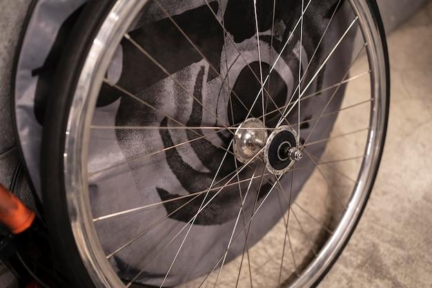 Parte della bicicletta ad alto angolo