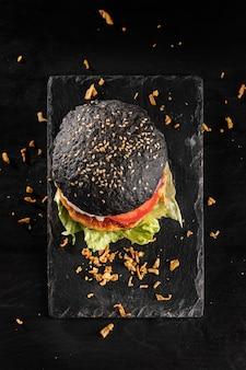 Assortimento di hamburger delizioso ad alto angolo