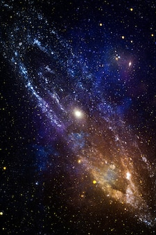 Sfondo dello spazio di alta qualità. supernova di esplosione. nebulosa stella luminosa. galassia lontana. immagine astratta. elementi di questa immagine forniti