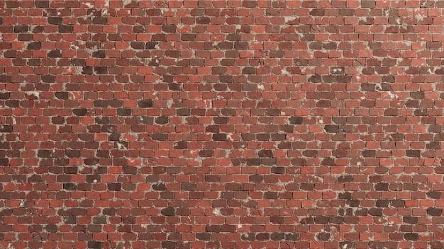 Muro di sfondo texture di mattoni rossi ad alta risoluzione