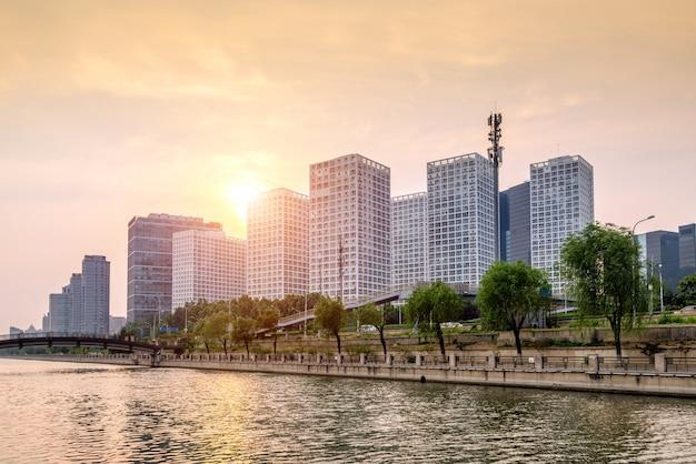 Grattacieli nel distretto finanziario della città, pechino, cina.