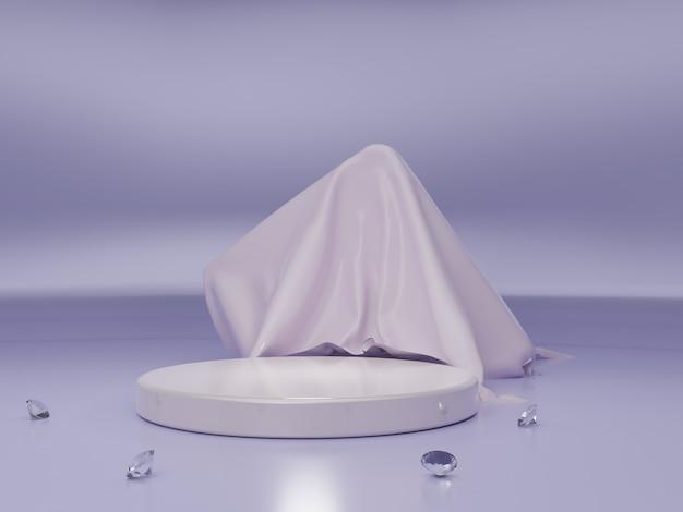 Palco dell'evento viola 3d reso di alta qualità o sfondo del podio del prodotto