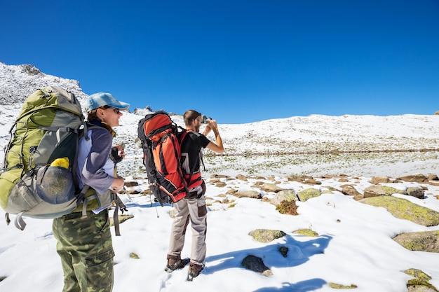 Escursione sui monti kackar nella turchia orientale, stagione autunnale.