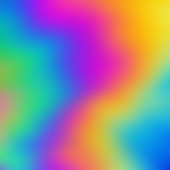 Sfondo sfocato arcobaleno olografico