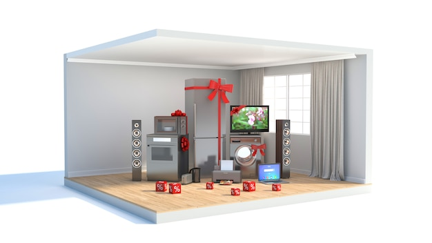 Elettrodomestico con nastri e sconti negli interni