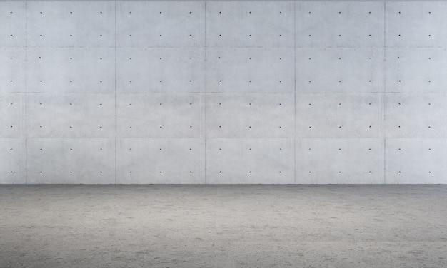 Il fondo interno domestico e il salone vuoto e la struttura del muro di cemento 3d rendono