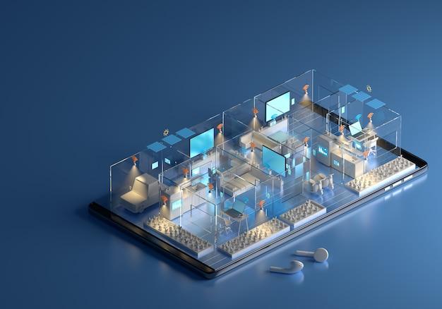 Concetto di idea di informazioni di sistema di tecnologia domestica.