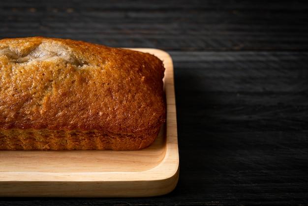 Banana bread fatto in casa o banana cake a fette banana