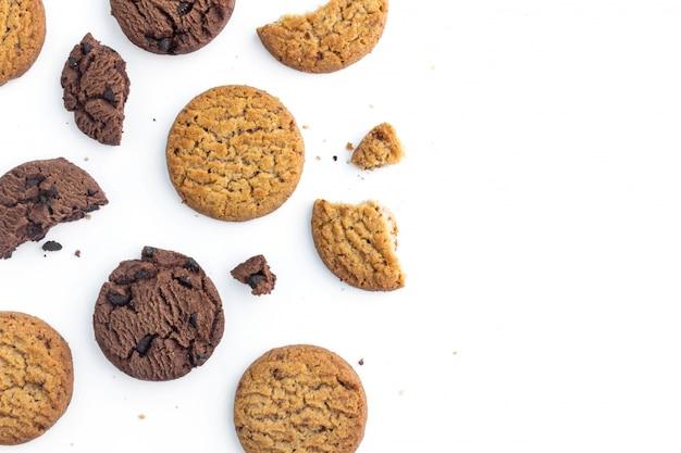 Biscotti al cioccolato fatti in casa e biscotti al burro