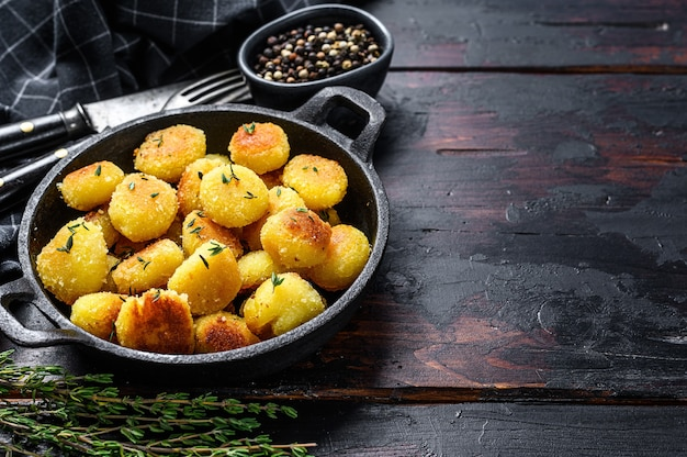 Gnocchi di patate fatti in casa fritti in padella