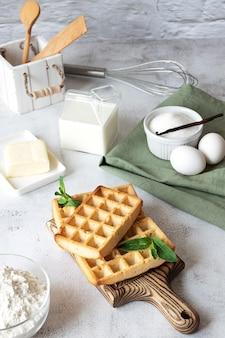 Cialde fatte in casa con i suoi ingredienti