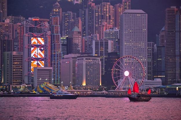 Skyline di hong kong. hong kong, cina