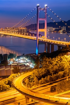 Hong kong tsing ma bridge