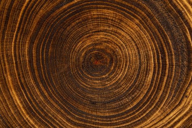 Struttura in legno verniciato marrone orizzontale per il disegno di sfondo