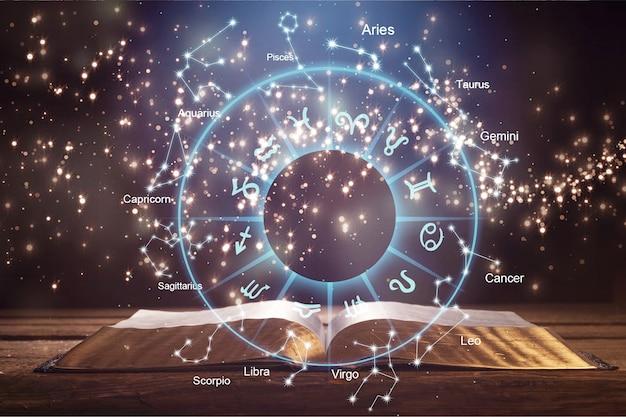 Oroscopo astrologia zodiaco oroscopo zodiaco segno di fortuna mito stelle simbolo, tradizionale