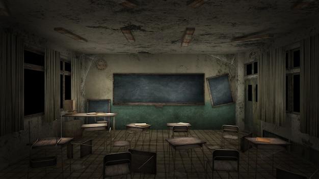 Orrore e inquietante classe nella scuola.