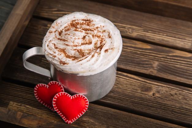Cioccolata calda con panna montata