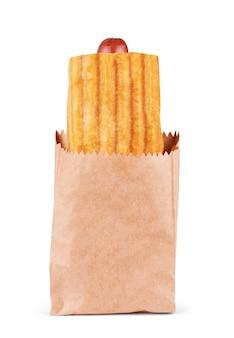 Hot dog in un sacchetto di carta