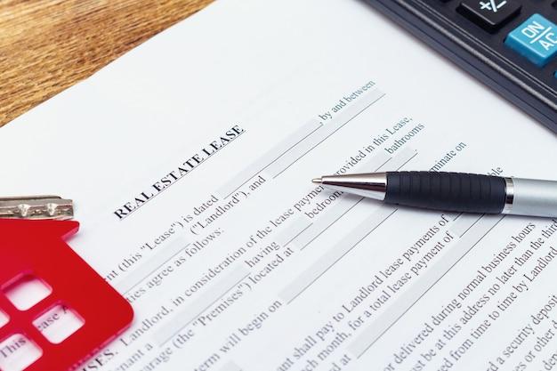 Casa, casa, proprietà, contratto di locazione di locazione immobiliare
