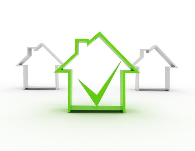 Simbolo della casa con segno di spunta