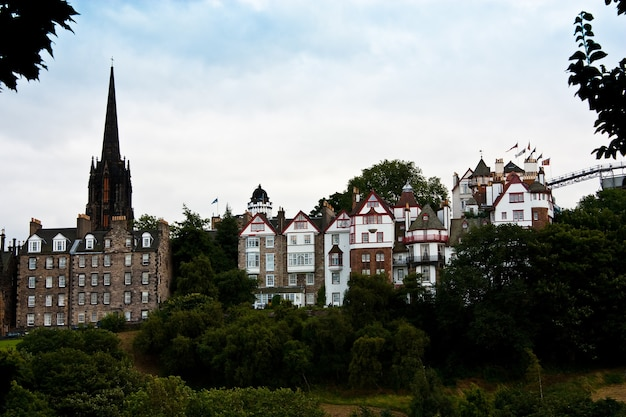 Case della città vecchia di edimburgo, scozia