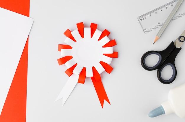 Come fare il cotillon di carta polacca a casa passo dopo passo istruzioni passo simbolo nazionale della polonia