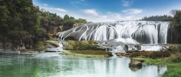 Gruppo della cascata di huangguoshu, guizhou, cina