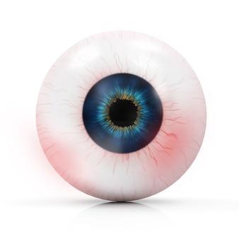 Occhio rosso umano
