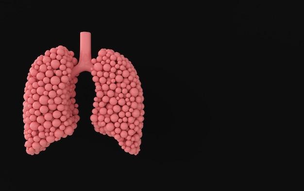 Concetto di anatomia del sistema respiratorio umano