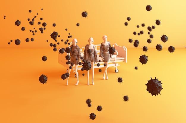 Distanziamento sociale umano per prevenire il coronavirus