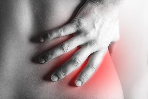Sofferenza umana dal mal di schiena