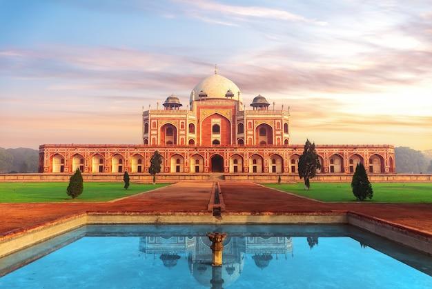 Tomba di humayun, bellissimo oggetto dell'unesco, new delhi, india
