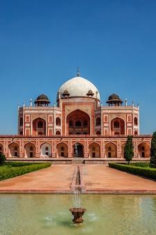 Tomba di humayun famosa meta di attrazione turistica. delhi, india