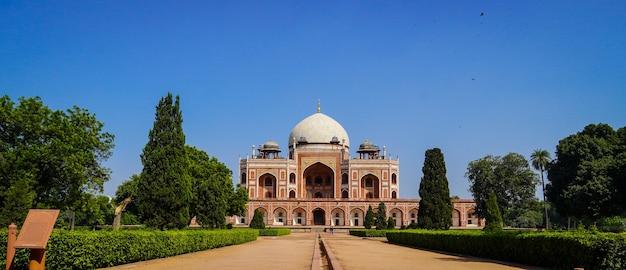 Tomba di humayun tomba dell'imperatore mughal humayun a delhi, india.