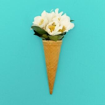 Mazzo di gelato. stile di moda minimalista