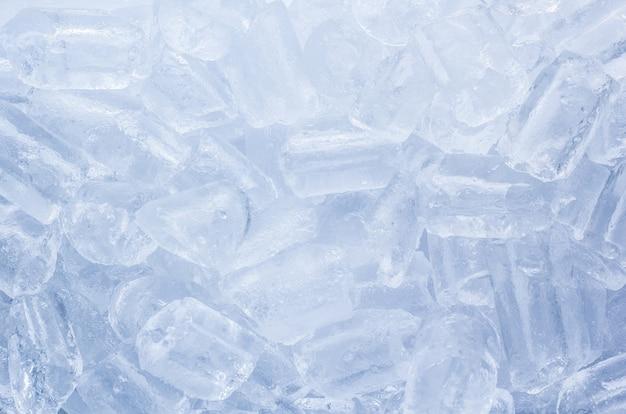 Priorità bassa del primo piano dei cubetti di ghiaccio