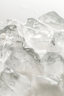 Colpo macro di cubetti di ghiaccio