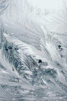Texture ghiaccio, sulla finestra, bianco.