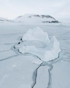 Iceberg nella baia di disko in groenlandia