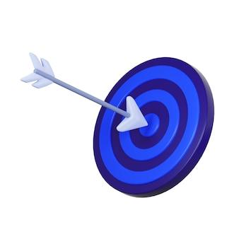 Icona della freccia e dell'obiettivo isolato su bianco