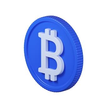 Icona della moneta bitcoin isolato su bianco