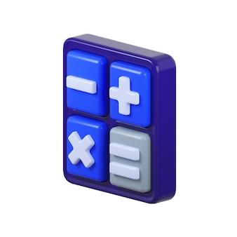 Icona della calcolatrice isolata su bianco