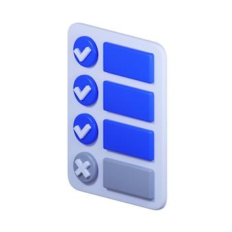 Icona della lista di controllo isolata su bianco