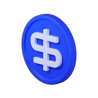 Icona della moneta del dollaro isolata su bianco