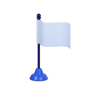 Icona della bandiera isolato su bianco