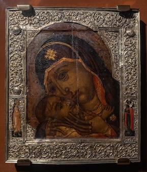 Icona della madre di dio kazan xvii secolo kostroma russia